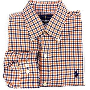 Ralph Lauren Polo Non Iron Plaid Dress Shirt
